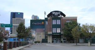Vista do Shaw Park em Winnipeg, Canadá 4K filme