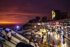 Vista do shopping de Larcomar em Miraflores imagem de stock royalty free