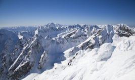 Vista do stit de Lomnicky - repique em Tatras alto fotografia de stock royalty free