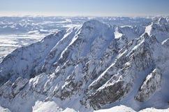 Vista do stit de Lomnicky - repique em Tatras alto Fotos de Stock