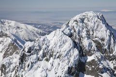 Vista do stit de Lomnicky - repique em Tatras alto Imagem de Stock