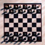 Vista do tabuleiro de xadrez de cima de Fotografia de Stock