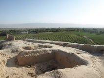 Vista do takht-e Rostam na cidade de Balkh, Afeganistão Imagem de Stock