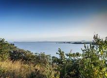 Vista do tana do lago perto do bahir Etiópia dar foto de stock