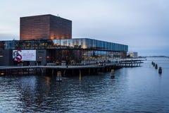 Vista do teatro dinamarquês real, Copenhaga, Dinamarca fotos de stock