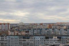 Vista do telhado do prédio soviético imagem de stock