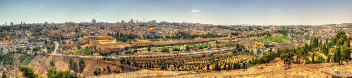 Vista do Temple Mount no Jerusalém Foto de Stock