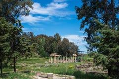 Vista do templo da deusa Artemis em Atenas Grécia Fotografia de Stock