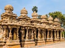 Vista do templo de Kailasanathar em Kanchipuram, Índia fotos de stock
