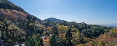 Vista do templo de Kiyomizu-dera Fotografia de Stock