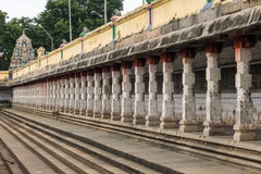 Vista do templo de Nataraja, Chidambaram, Índia imagem de stock