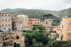 Vista do templo de Vesta, Tivoli, Lazio, Itália imagem de stock royalty free