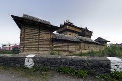 Vista do templo em sariano, Himachal Pradesh de Bhimakali, Índia Imagens de Stock