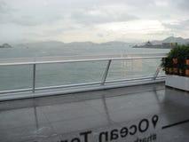 Vista do terminal do navio de cruzeiros, Kowloon, Hong Kong imagens de stock royalty free