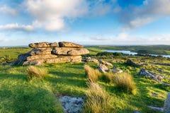 A vista do Tor de Tregarric em Cornualha Imagens de Stock Royalty Free