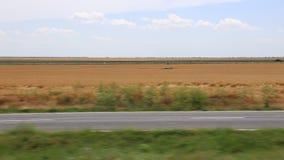 Vista do trem no movimento filme