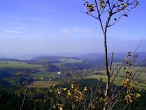 A vista do upland do outono foto de stock royalty free
