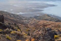 Vista do Vale da Morte Imagem de Stock