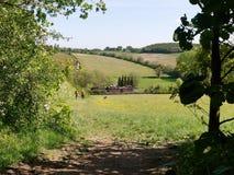 Vista do vale da xadrez em Hertfordshire, Inglaterra, Reino Unido imagem de stock