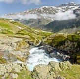 Vista do vale de Heas do platô de Maillet Foto de Stock