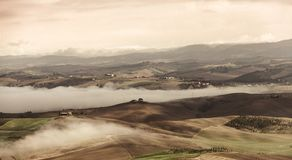 Vista do vale de Montalcino imagem de stock royalty free