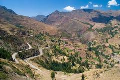 Vista do vale de Urubamba das ruínas de Pisac, Imagens de Stock Royalty Free