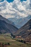 Vista do vale sagrado no Peru fotos de stock royalty free