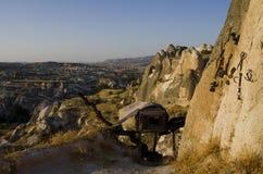 Vista do vale sul de Cappadocia fotografia de stock