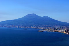 Vista do Vesúvio de uma montanha alta Imagem de Stock