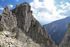 Vista do veza de Velka Lomnicka - repique em Tatras alto, Eslováquia fotografia de stock