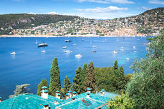 A vista do Villefranche-sur-Mer Fotos de Stock