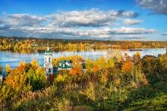 Vista do Volga da montagem Levitan Imagem de Stock
