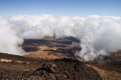 Vista do vulcão de Teide foto de stock royalty free