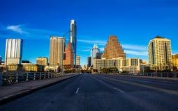 Vista dorata del capitale di Austin Congress Avenue Bridge Soco di ora immagini stock