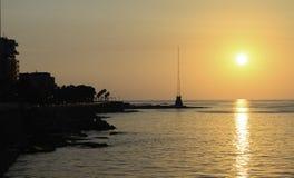 Beirut Cornich nel Libano al tramonto Immagini Stock Libere da Diritti