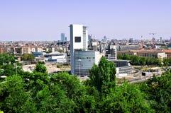Vista dos arranha-céus e dos edifícios Fotos de Stock