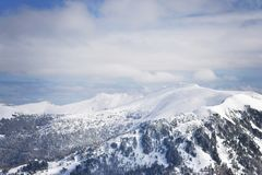 Vista dos cumes austríacos imagem de stock royalty free