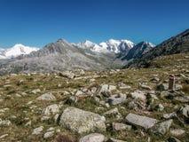 Vista dos cumes em Áustria Foto de Stock Royalty Free