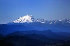 Vista dos diversos pico Himalaia, Shangri-La, China Imagens de Stock