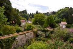 Vista dos jardins Fotografia de Stock