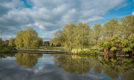 Vista dos jardins de rocha para Preston Park em um dia ensolarado Imagens de Stock Royalty Free
