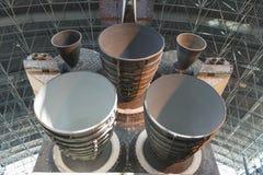 A vista dos motores principais da descoberta do vaivém espacial desloca sobre imagem de stock