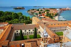 Vista dos pátios de San Giorgio Monastery e de Giudecca isl foto de stock royalty free