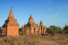 Vista dos pagodes em Bagan Fotos de Stock Royalty Free