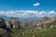 Vista dos penhascos em Meteora fotografia de stock royalty free