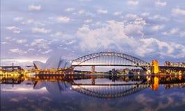 Vista dos teatros da ópera em sydney Fotografia de Stock Royalty Free