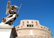 Vista dramática de Castel Sant Ángel Imagen de archivo libre de regalías