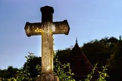 Vista dramática transversal religiosa no por do sol Imagem de Stock