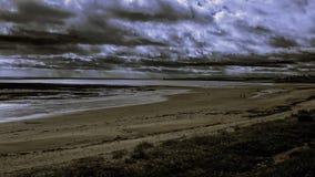 Vista drammatica del mare fotografia stock