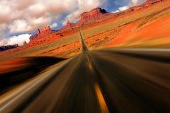 Vista drammatica di miglio 13 dell'Arizona della valle del monumento Immagini Stock